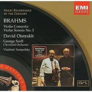 Brahms : Concerto pour violon / Sonate pour violon et piano n° 3 (Coll. Great Recordings Of The Century)
