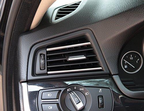 car-styling ABS Chrom Innen Zubehör Air Zustand Dekoration Rahmen Auslass Cover Trim Aufkleber für 5Serie F10520li 525li 530LI 2011–2017
