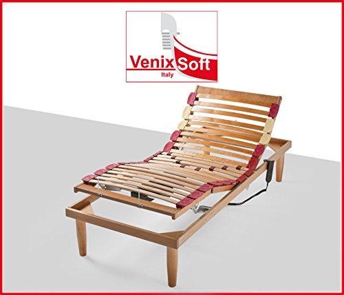 Rete a doghe venixsoft per letto singolo 90x200 alza testa piede elettrica in legno con doghe - Rete per letto singolo ...