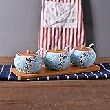 MDRW-Accessori Della Cucina Della Famiglia Vaso Di Ceramica Condimento Condimento Box Set Utensili Da Cucina Per Uso Domestico Sale Pepe Piatto Condendo Box Set