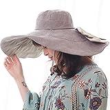 RIONA Donna Estate Cappello Da Sole cappello da sole extra-large  reversibile ripiegabile e modellabile 9f01beb27d93