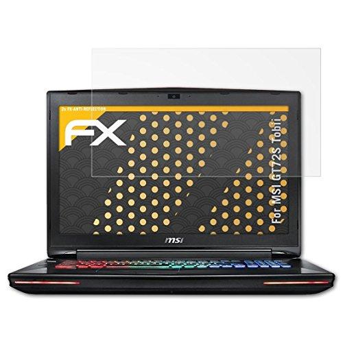 atFolix Panzerfolie kompatibel mit MSI GT72S Tobii Schutzfolie, entspiegelnde und stoßdämpfende FX Folie (2X)