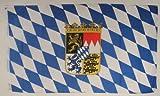 Flagge Fahne ca. 90x150 cm : Bayern mit Wappen bayerische Bayernflagge