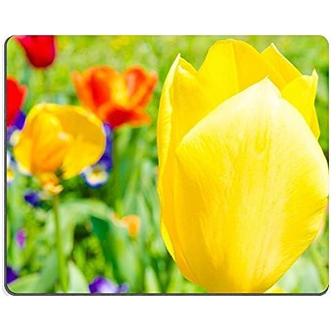 Gomma Naturale Luxlady Gaming Mousepad questo è un fiore di giallo tulipano Immagine ID 27695665