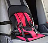 #1: Multi-function Adjustable Baby Car Cushion Seat with Safety Belt - For Babies & Toddlers (Red)