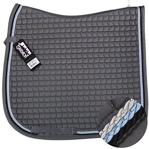 ESKADRON Cotton Schabracke grau, 3fach Kordel navy,hellblau,silber, Form:Vielseitigkeit
