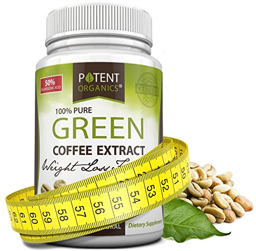 Pure Green Coffee Extract in 60 Capsules - Helps Lose Weight & Burn Fat - Pure Natural Appetite Suppressant Supplement with No Side Effects! 100% Money Back Guarantee - Order Risk Free! by Potent Organics