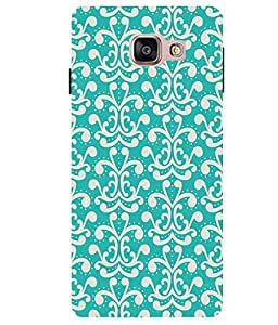 Citydreamz Cool Blue & White Hard Polycarbonate Designer Back Case Cover For Samsung Galaxy A7 2016 Edition