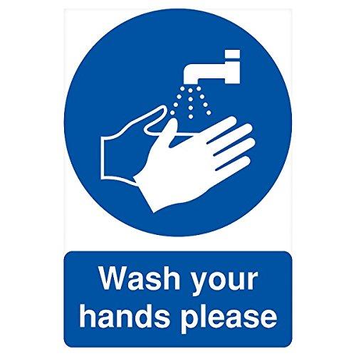 Nun waschen Sie Ihre Hände Bitte melden (Bitte Waschen Sie Ihre Hände Zeichen)