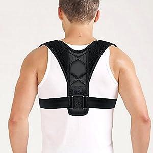 Fixget Haltungskorrektur Geradehalter, Rücken Schulter Verstellbar Atmungsaktiv Rückenbandage Haltu