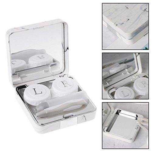 Square Marmor (hgfcdd KontaktLinse Box Marmor Square Ziele Reise Portable Case Speicher Container)