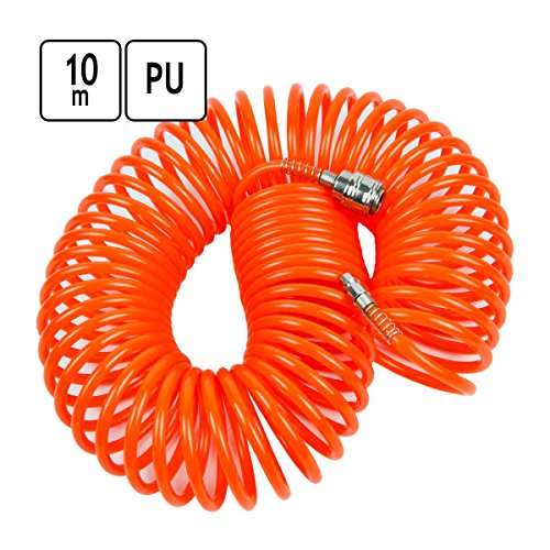 10 m PU Luftschlauch Druckluft Spiralschlauch Ø 5 x 8 mm Druckluftgeräte Kompressor Schlauch