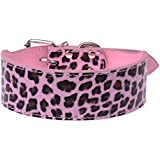 Coribe Lovely Colorful Leopard Pet Dog Cat Necklace PU Leather Collar 2 Colors New