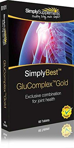 GluComplex Gold   formula contenente 19 ingredienti tra cui glucosamina,