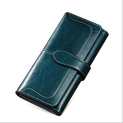ZLR Mme portefeuille Porte-monnaie à long terme pour dames Porte-monnaie multifonction à trois cartes pliable à grande capacité