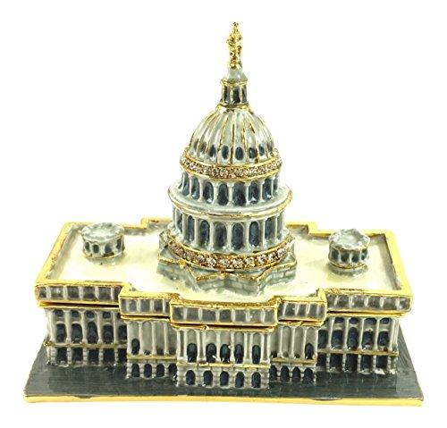 U S Capitol Building Schmuckkästchen von Kubla Craft, mit Kristallen, 3L (Building Us Capitol)