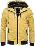 Navahoo Herren Winter Jacke leichte sportliche Jacke robust wasserabweisend Winddicht B623 [B623-Hunter-Gelb-Gr.M]