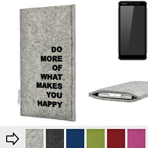 flat.design Handy Hülle FARO für Ruggear RG850 Made in Germany Handytasche Filz Tasche Case Spruch Motto fair