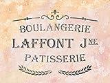 Schablone für Möbeldeko - Boulangerie - französische vintage Schrift - Airbrush stencil - shabby chic Schablone - DIY - Schablone für Stoff