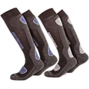 VCA 2036, 2 Pairs of Ski Socks with Extra Padding (male) (Sports & Outdoors)