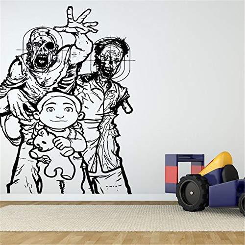 zqyjhkou Wand Room Decor Art Vinyl Aufkleber Wandtattoo Zombie Decor Wandtattoo Vinyl Living Wall Decor Wandtattoo D383 58 X 83 cm