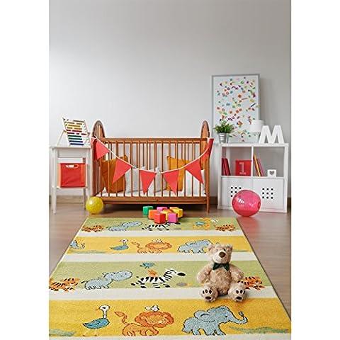 benuta Tappeto bambino Noa Africa Multicolor 140x200