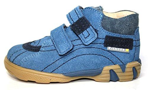 Richter Kinderschuhe , Chaussures de ville à lacets pour garçon Blau (paci/atlan/jean 1471)