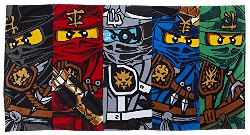 Bad-handtuch-multi Farbe (LEGO Handtuch, Motiv Ninjago-Krieger)
