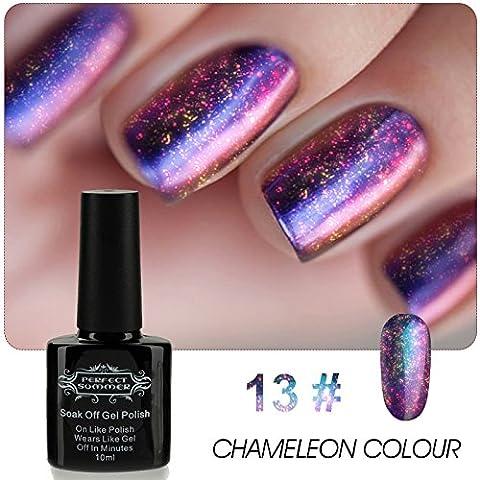 Perfect Summer 10ml Vernis à Ongles Paillette Semi Permanent Gel UV Caméléon Couleur Changeante Nail Art Manucures #13