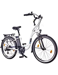 "NCM Rome,26"" Zoll Elektrofahrrad Herren/Damen Unisex Pedelec,E-Bike,City Rad, 36V 250W 13Ah Lithium-Ionen-Akku mit 468Wh, weiß"