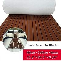 Toogou - Alfombrilla Antideslizante de Espuma EVA para Suelos Marinos con Adhesivo 3M, Barcos de Teca sintética para Kayak, marrón Oscuro