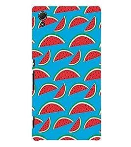 Fabcase watermelon fruit theme animated creative beautiful designs Designer Back Case Cover for Sony Xperia Z3+ :: Sony Xperia Z3 Plus :: Sony Xperia Z3+ dual :: Sony Xperia Z3 Plus E6533 E6553 :: Sony Xperia Z4