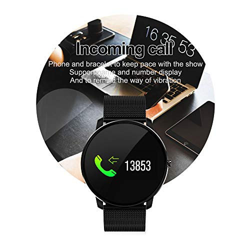 516GB4DAP1L. SS500  - Jersh Electronic Smart Watch,High Quality Color Screen Fine Steel Strap Multifunction Smart Bracelet Fitness Tracker Unisex Activity Tracker Temperament Smart Watch