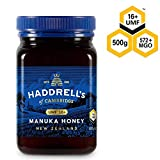 Haddrell's of Cambridge | Miel de Manuka UMF 16+ | Nouvelle-Zélande Naturels De Première Qualité Miel Manuka | 500 grammes