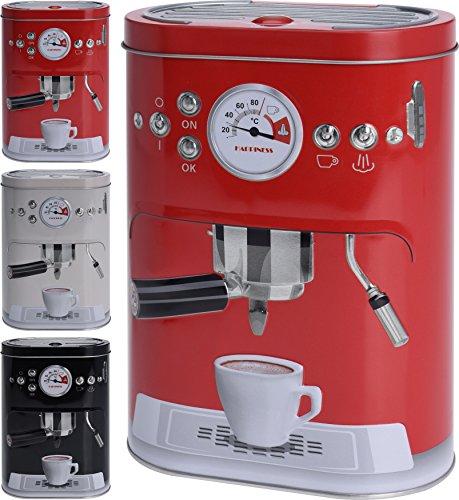 Kaffeedose Vorratsdose im 'Espresso Siebträgermaschine' Design. Für Kaffeepads, Kaffeepulver,...