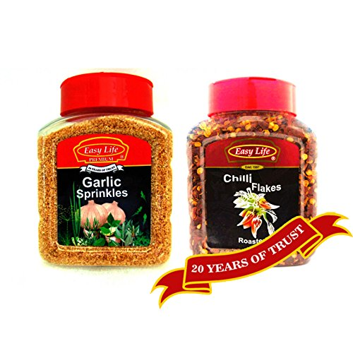 Easy Life Combo of Garlic Sprinkles 250g + Roasted Chilli Flakes 200g 516GCzzlBhL