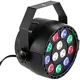 Lixada DMX-512 12 LED - Luz de escenario espectroscópico profesional LED luces 8 canales RGBW