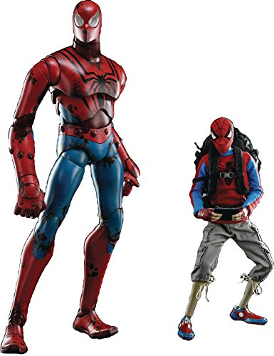 ThreeZero DREI A Marvel X 3A Peter Parker & Spider-Man Maßstab 1: 6Action Figur Set
