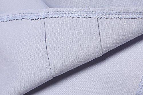 Zearo Damen Bluse Hemd langarm shirt elegant Hemd Büro Hemd Ärmel mit spitze Grau