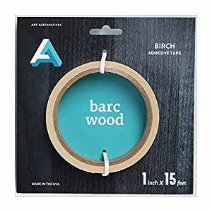 Barc Wood Birch Adhesive Tape 1In X 15Ft Roll by Art Alternatives