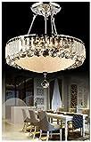 Dst Luxus runden Tröpfchen Kronleuchter aus Kristall, Deckenleuchte für Schlafzimmer Wohnzimmer (Round Style)