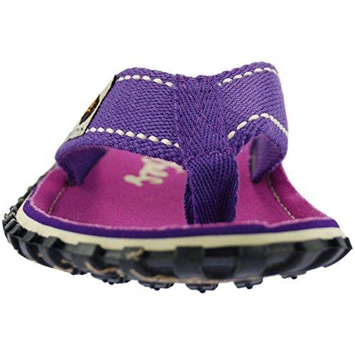 Gumbies Islanders Adulto Sandali Infradito Calzature Da Spiaggia Numero eu 36 - 12 UK (Purple Signature)