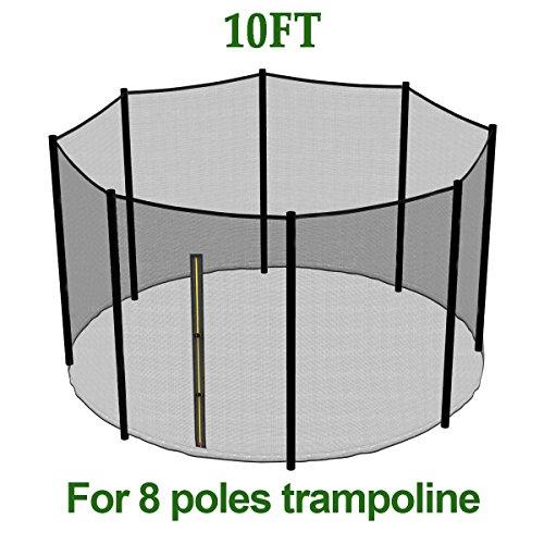 Greenbay Trampolin Sicherheitsnetz Gartentrampolin Ersatznetz | für Ø 305cm 8 Stangen Trampolin | Ersatzteil extrem reißfest & UV-beständig