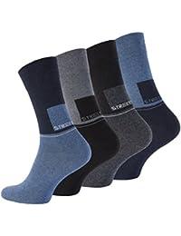 Lot de 8 paires de chaussettes STREET - coton et élasthanne - homme - bicolore