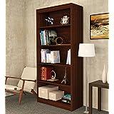 BLUEWUD 5 Shelves Alex Wall Book Shelf/Home Decor Display and Storage Rack Cabinet Unit, 65x31.5 Inches (Wenge, SB-AXA-W52)