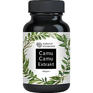 Camu-Camu Kapseln – Natürliches Vitamin C – Vergleichssieger 2019* – 180 vegane Kapseln für 6 Monate – Laborgeprüft, ohne unerwünschte Zusätze und hergestellt in Deutschland