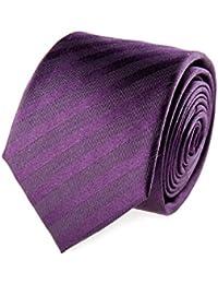 OTTO KERN Krawatte Seide Seidenkrawatte Plum Basic
