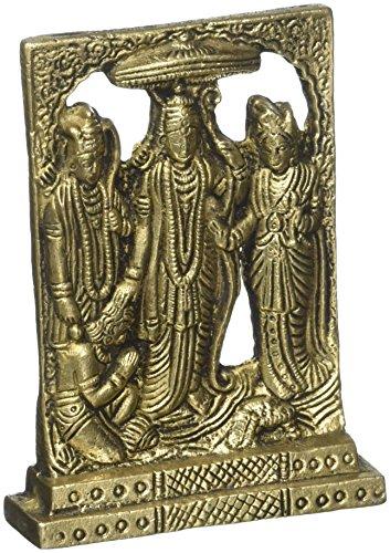 Antique Shri Ram Darvar Inde Diety Figurine Saint Bronze Sculpture Home Decor