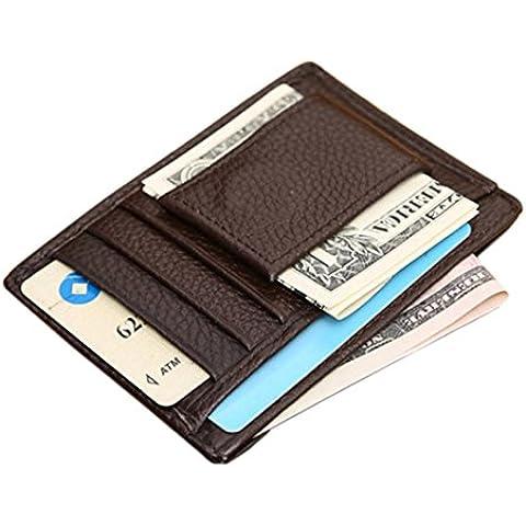 Sannysis® Titolare Portafoglio Uomo di credito della carta di identificazione sottile (Portafoglio Compatto)