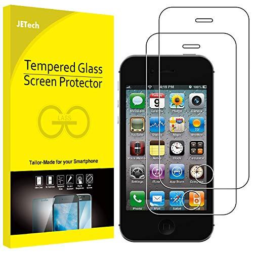 JETech Film de Protection d'écran pour iPhone 4s et iPhone 4 en Verre Trempé